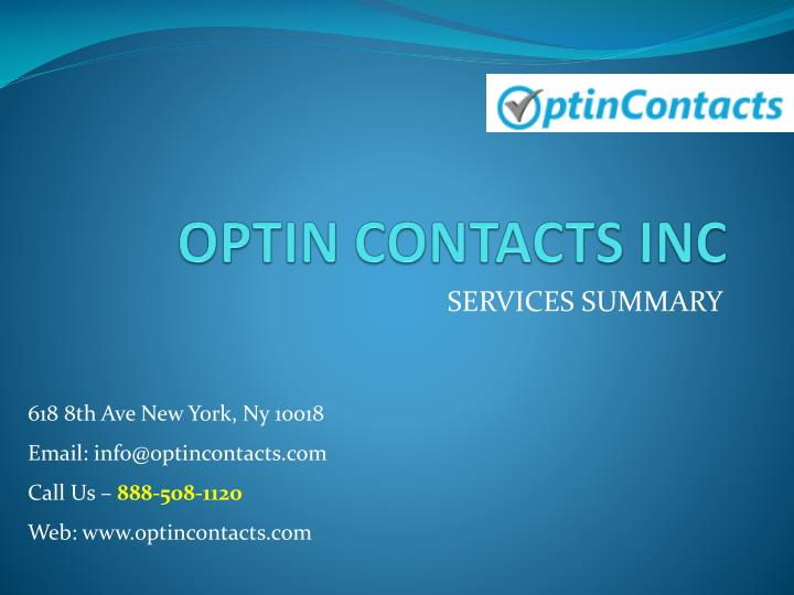 optin contacts inc n.