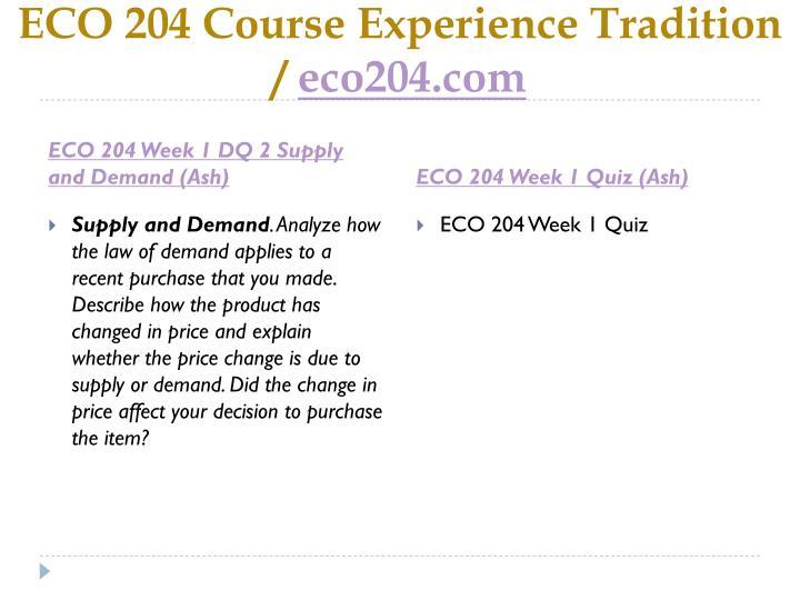 eco 204 week 1 quiz