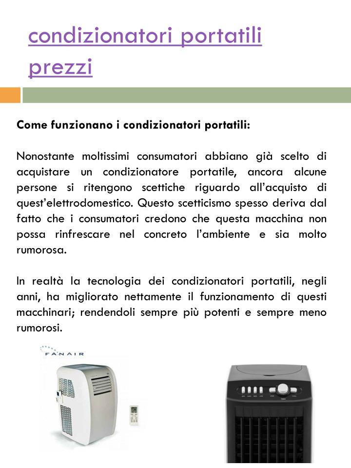 Condizionatori portatili prezzi1
