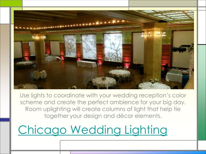 chicago wedding lighting n.
