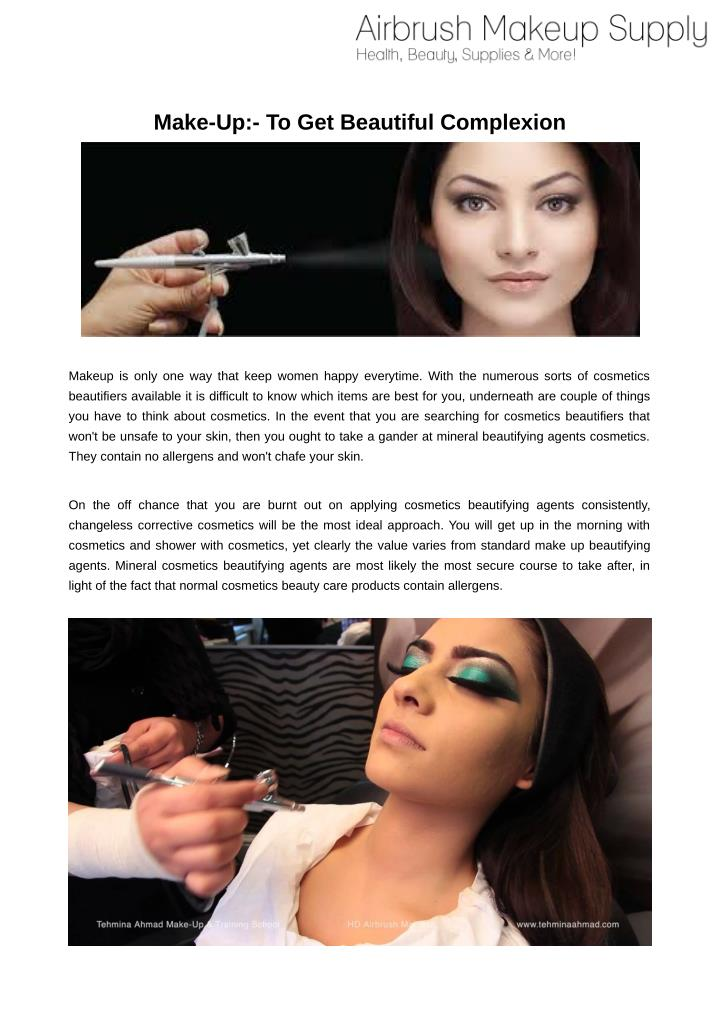 PPT - Airbrush Makeup PowerPoint Presentation - ID:7384123