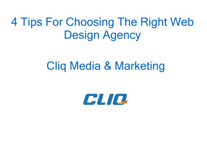 4 tips for choosing the right web design agency n.