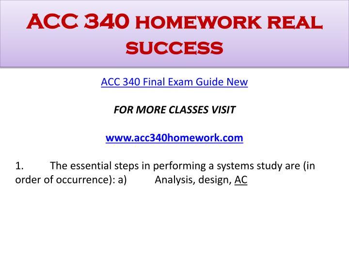 Acc 340 homework real success1