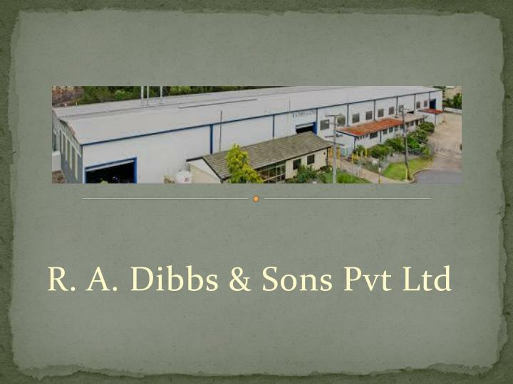 r a dibbs sons pvt ltd n.