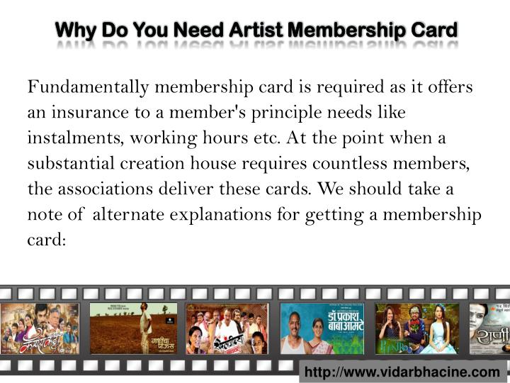 Why Do You Need Artist Membership Card
