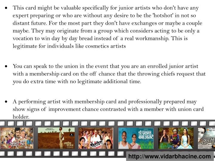 This card might be valuable specifically for junior artists who don't have any expert preparing or who are without any desire to be the 'hotshot' in not so distant future. For the most part they don't have exchanges or maybe a couple maybe. They may originate from a group which considers acting to be only a vocation to win day by day bread instead of a real workmanship. This is legitimate for individuals like cosmetics artists