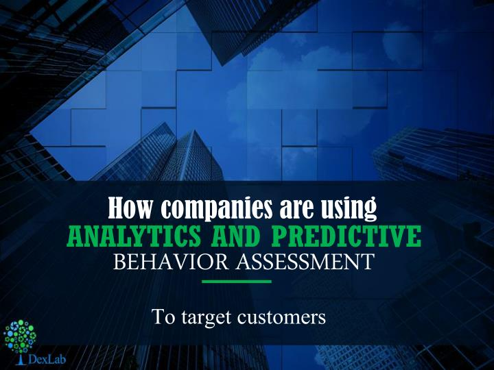 analytics and predictive n.