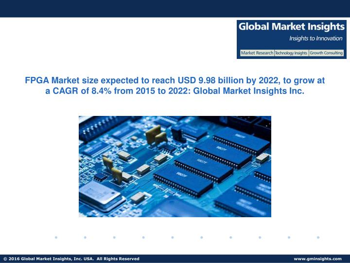 FPGA Market size expected to reach USD 9.98 billion by 2022, to grow at a CAGR of 8.4% from 2015 to ...