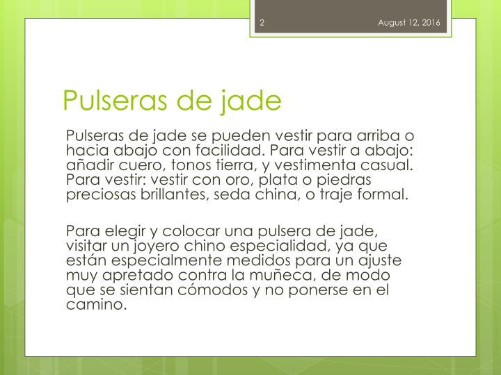 Pulseras de jade