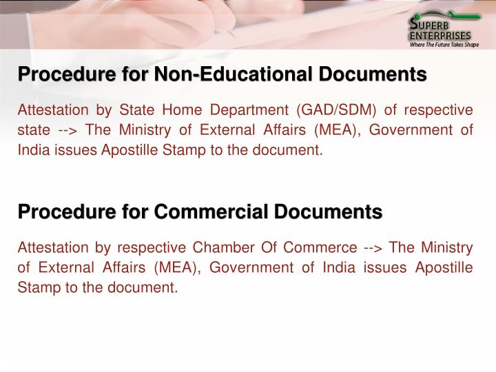 Procedure for Non-Educational Documents
