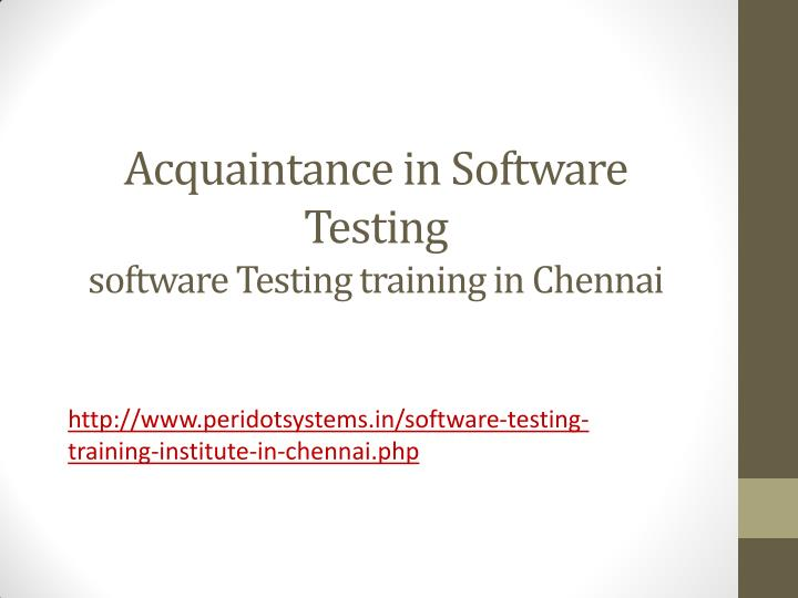 Acquaintance in Software