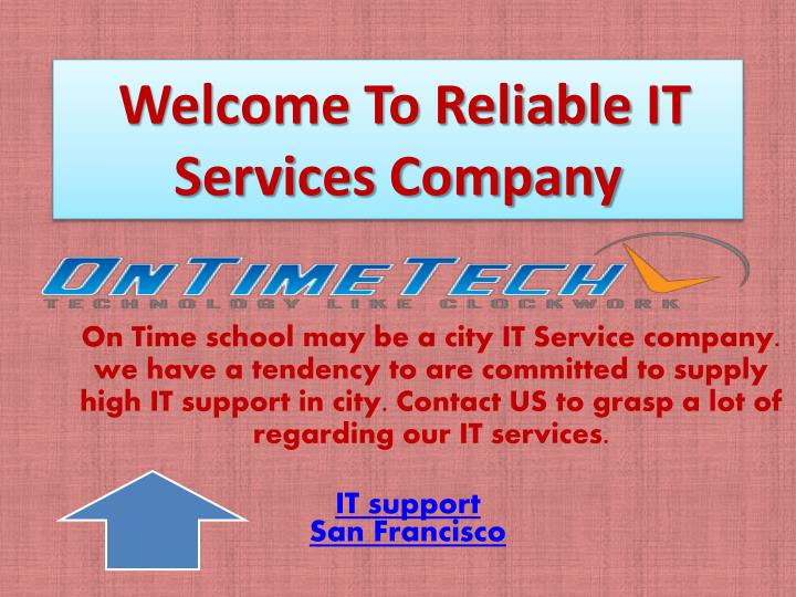 welcome to reliable it services company n.