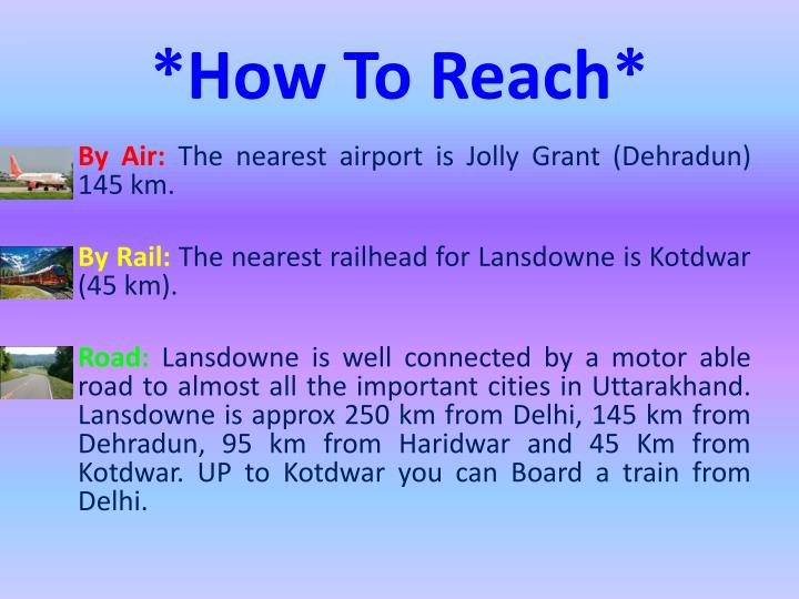 *How To Reach*
