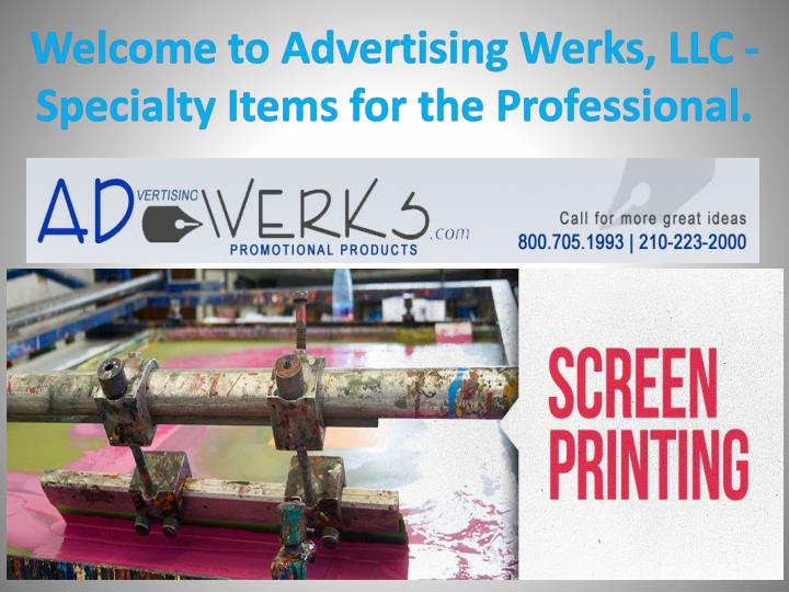 welcome to advertising werks llc specialty items for the professional n.