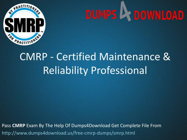 cmrp certified maintenance reliability professional n.