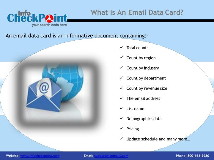 What is an email data card