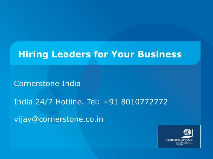 hiring leaders for your business n.