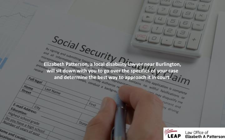 Elizabeth Patterson, a local disability lawyer near Burlington,