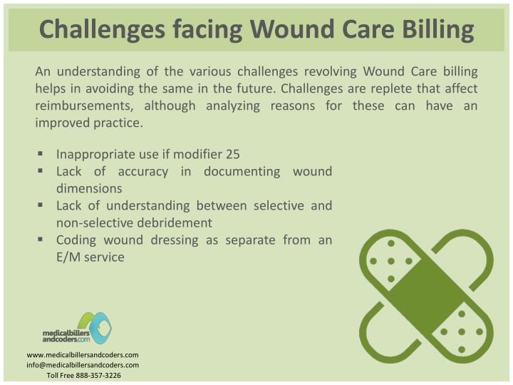 Challenges facing Wound Care Billing