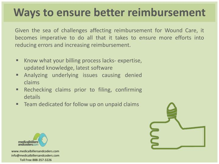 Ways to ensure better reimbursement