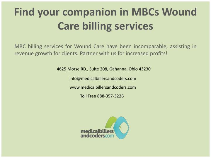 Find your companion in MBCs Wound Care billing services