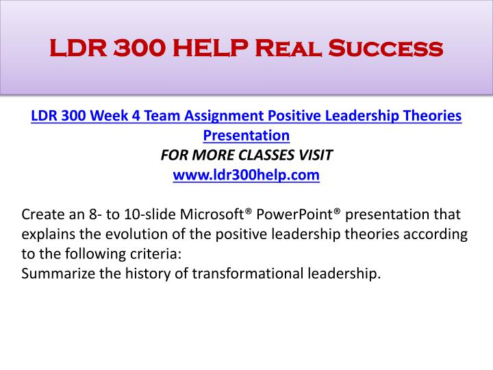 ldr 300 week 3 assignment leadership