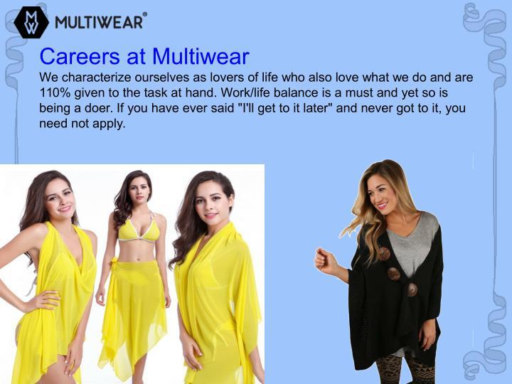 Careers at Multiwear