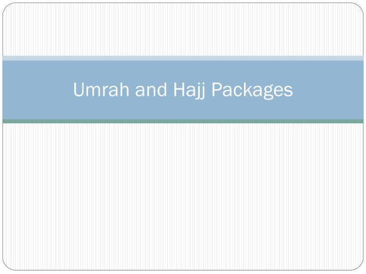 umrah and hajj packages n.