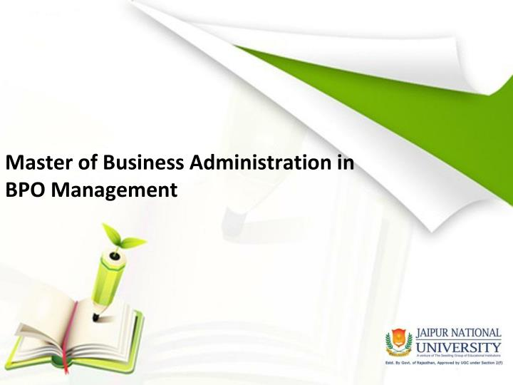 master of business administration in bpo management n.