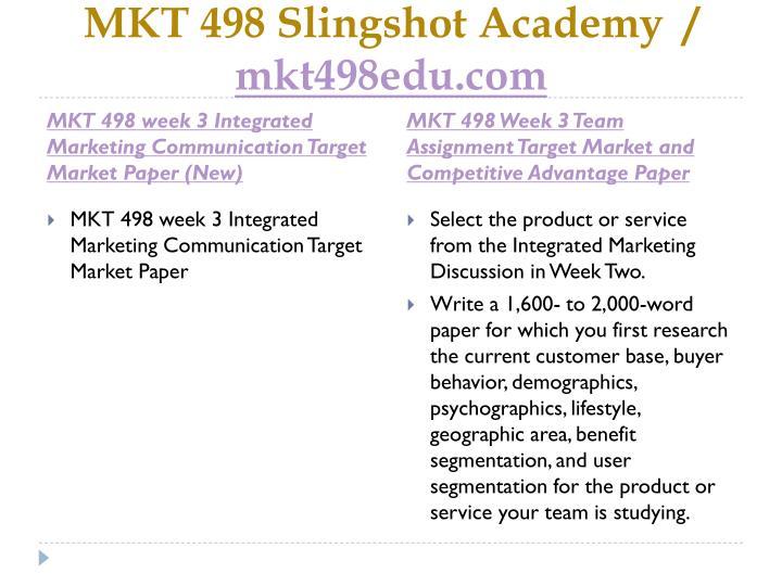 mkt 498 target market paper