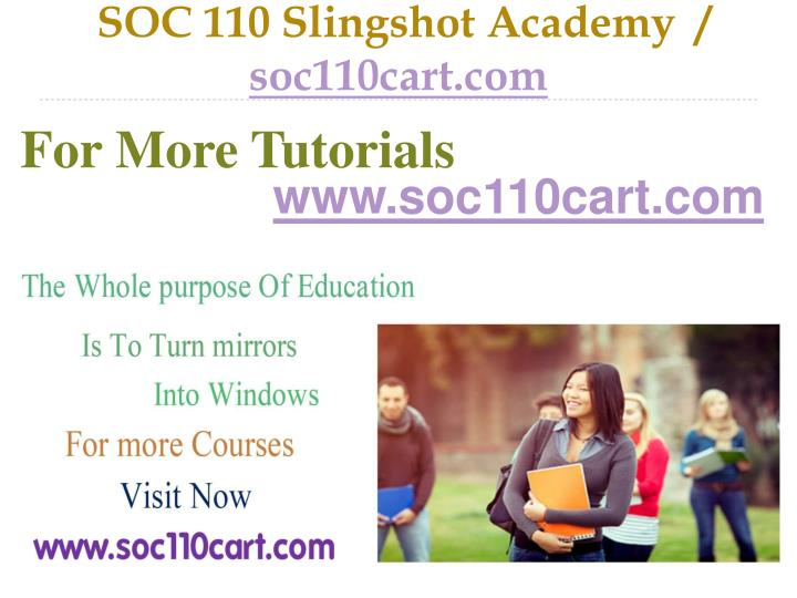 soc 110 week 5 Free essays on soc 110 week 5 for students use our papers to help you with yours 1 - 30.