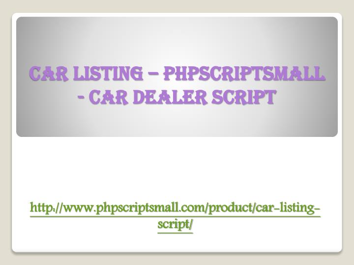 car listing phpscriptsmall car dealer script n.