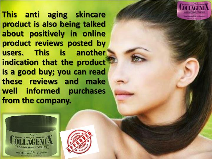 anti aging products essay From fighting those pesky free radicals, to stimulating skin's natural collagen production, anti-aging products make some alluring promises and consumers spend billions of dollars each year on such creams and lotions, according to the american academy of dermatology but for many creams, lotions.