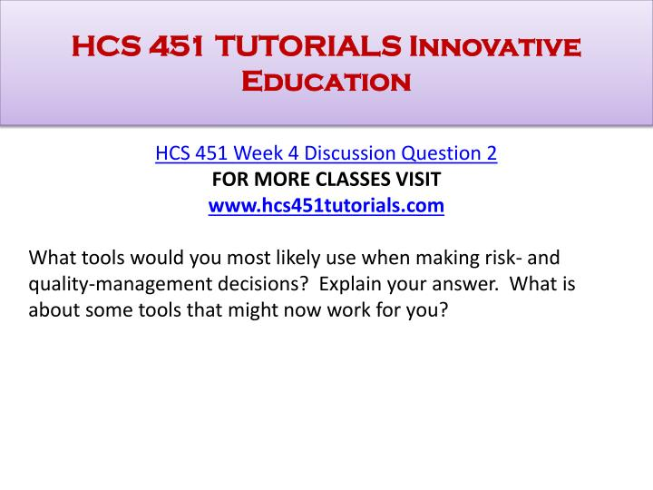 hcs451 risk and quality management