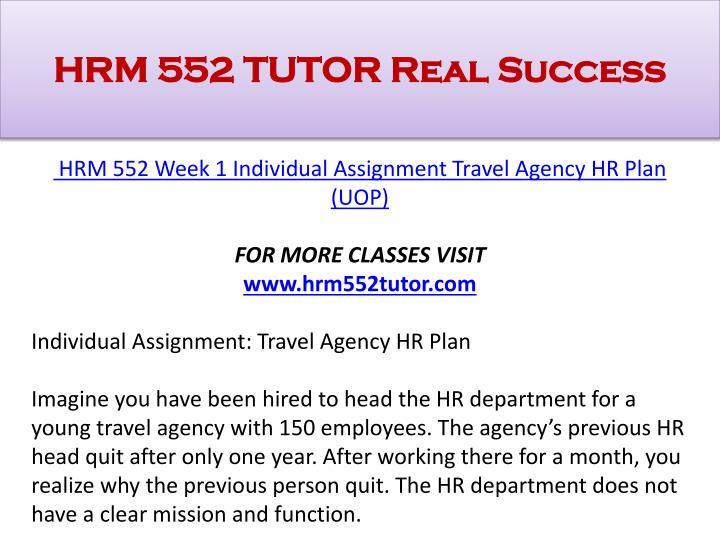 Hrm 552 tutor real success1