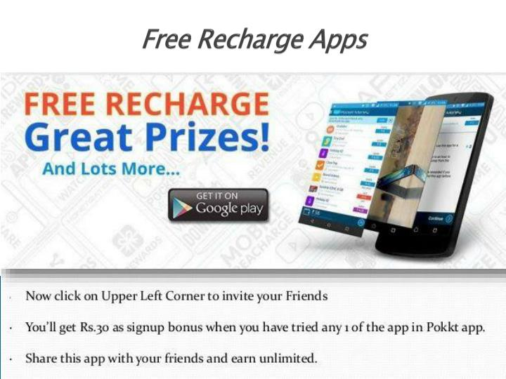 free recharge apps n.
