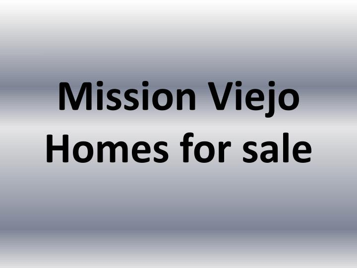 mission viejo homes for sale n.