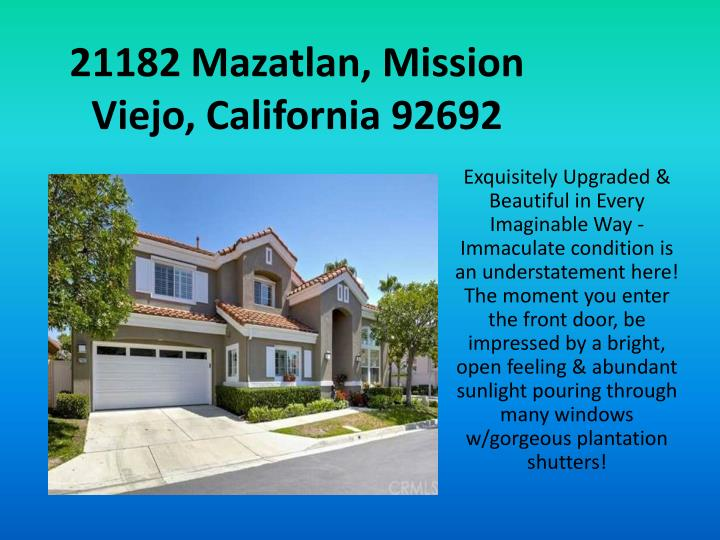 21182 mazatlan mission viejo california 92692