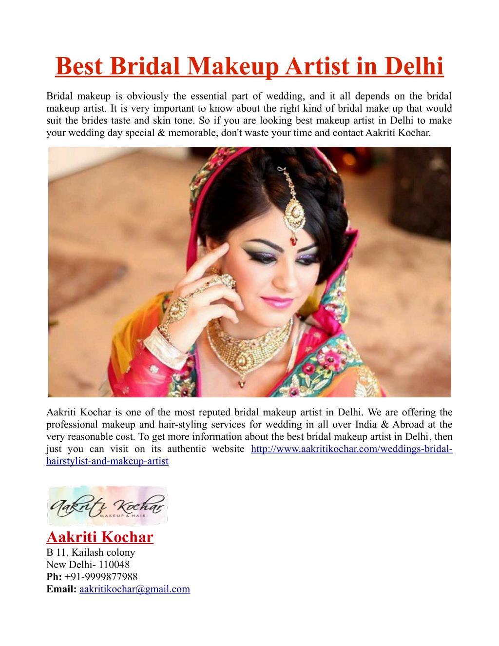 Best Bridal Makeup Artist in Delhi - PowerPoint PPT Presentation