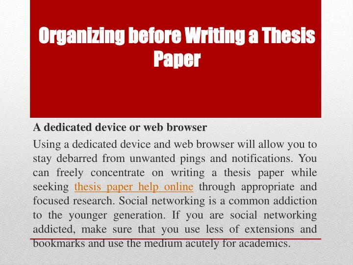 thesis statement about social networking