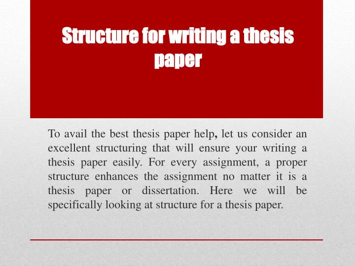research paper thesis structure