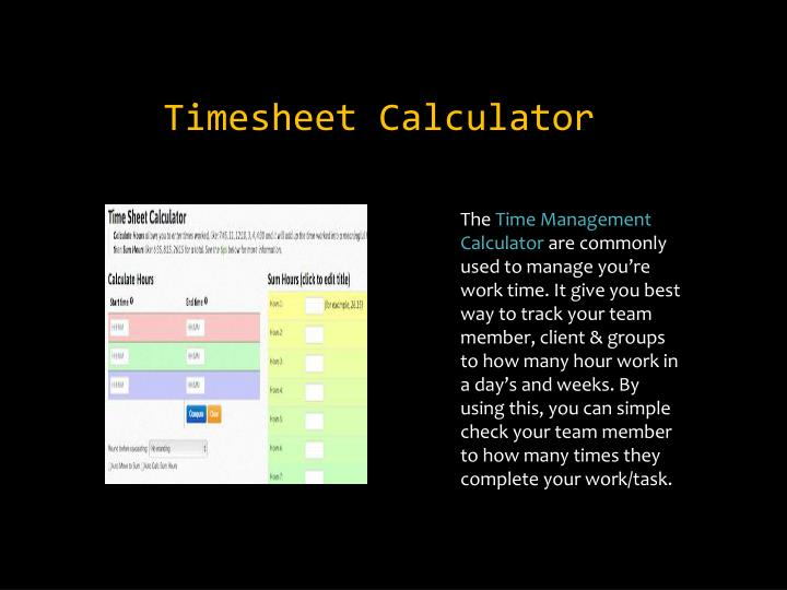 Ppt  Timesheet Calculator Powerpoint Presentation  Id