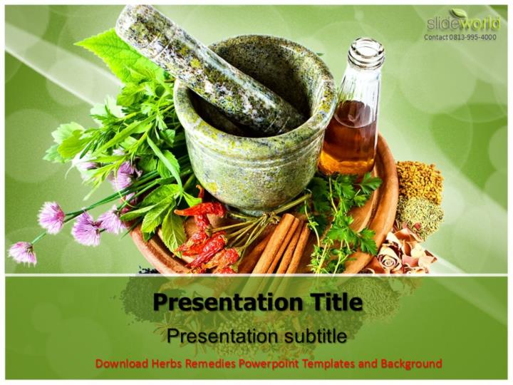 Ppt Download Herbs Remedies Powerpoint Templates And Background Powerpoint Presentation Id 7387759