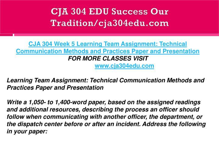 cja 304 week 2 learning