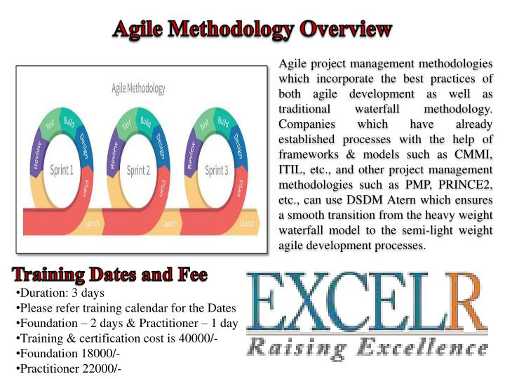project management methodologies There are a number of agile software development methodologies eg crystal methods scrum is an agile method for project management.