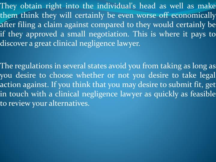 They obtain right into the individual's head as well as make them think they will certainly be even ...