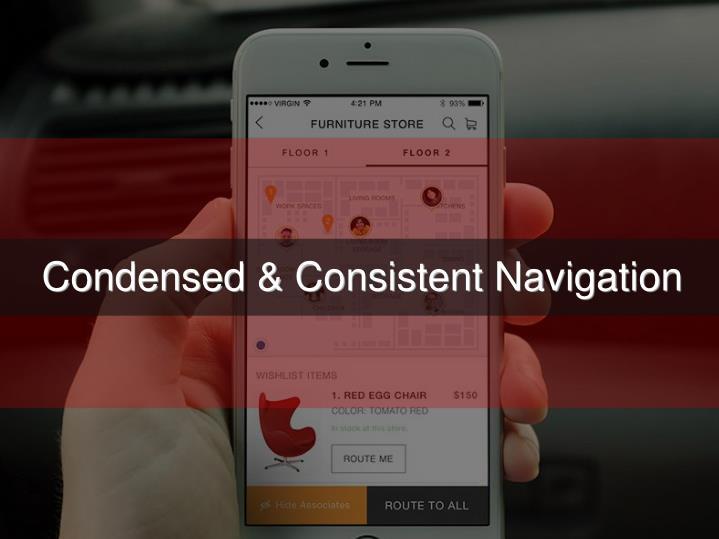 Condensed & Consistent Navigation