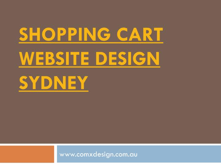 shopping cart website design sydney n.