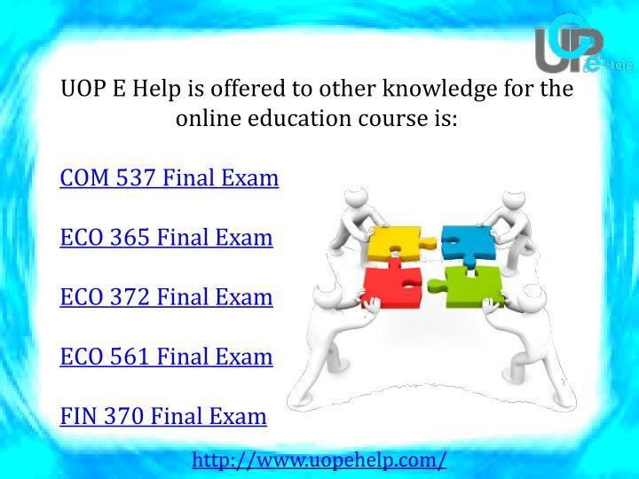 uop eco 365 final exam