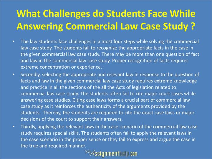 commercial law case study essays